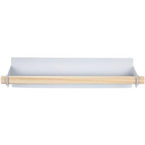 Toallero de una sola barra montado en la pared, rejilla para tela en la parte trasera de la puerta de la cocina, rejilla para toallas