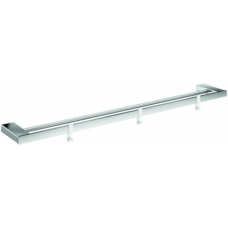 Toallero doble Emco loft, cromado, 3 ganchos extraíbles, 842 mm - 056100180