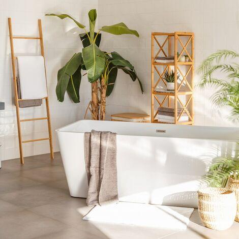 Toallero escalera marrón nórdico bambú de 45x170 cm