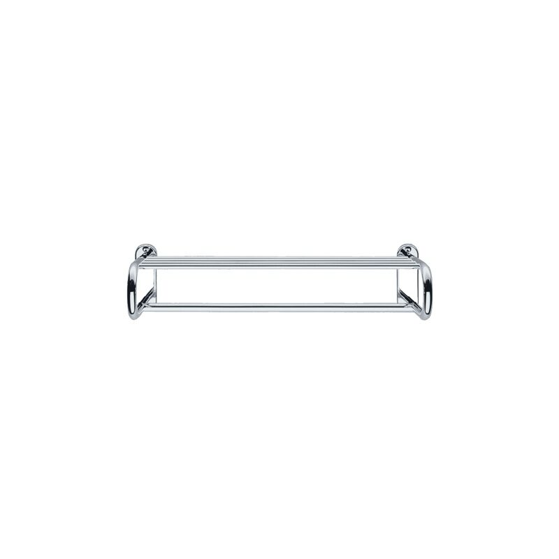 para ba/ño y aseo de invitados KEUCO Toallero de metal cromado brillante r/ígido 34 cm de profundidad edici/ón 90 montaje en pared de un solo brazo