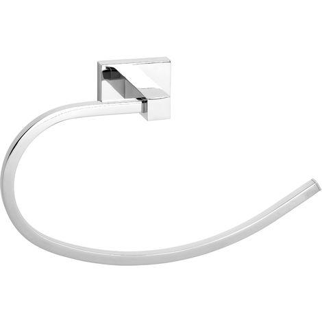 Toallero oval Noa fijación opcional con adhesivo - CM Baños