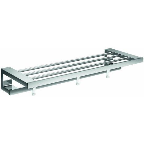 Toallero para loft Emco con toallero, cromado, 3 ganchos extraíbles, 600 mm - 056800160