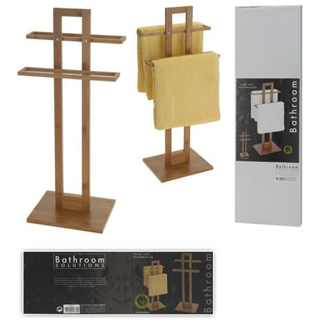 Toallero Pie Bambu 37x25x85cm