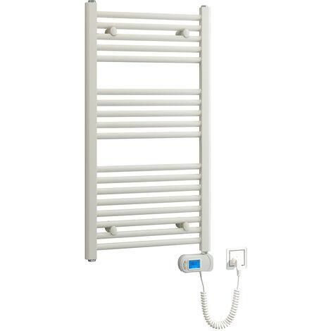 Toallero Secatoallas eléctrico blanco TES 920x480. Bajo consumo 500W, fabricado en acero lacado en blanco con 18 tubos