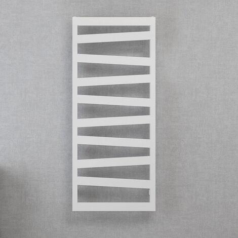 Toallero Secatoallas eléctrico KA, con un estante. Fabricado en aluminio con acabado en blanco. De bajo consumo 60W, temperatura uniforme por toda la superficie