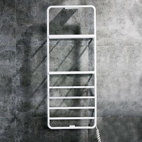 Toallero Secatoallas Eléctrico LE con dos estantes y cuatro barras para toallas. De bajo consumo 60W, fabricado en acero inoxidable con acabado blanco
