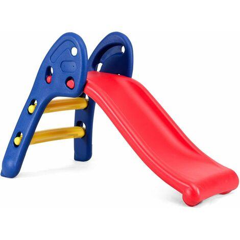 Tobogán Infantil Plegable Tobogán de Jardín Parque Hogar Interior Exterior para Niños de 3-6 Años