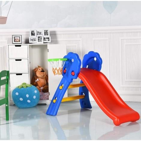 Toboggan pour enfants avec panier de basket en plastique (y compris filet de basket) 106 * 59 * 77cm
