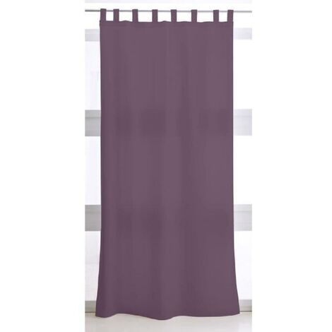TODAY Rideau a Pattes 140X260 uni violet TODAY