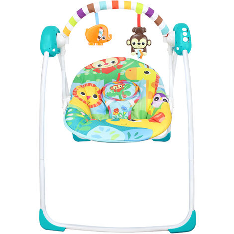 Toddler Rocker, Baby Swing, Animals World Pattern, Size: 80 x 76 x 54 cm (31.5 x 29.9 x 21.3 inch)