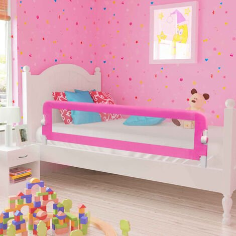 Toddler Safety Bed Rail 150 x 42 cm Pink - Pink