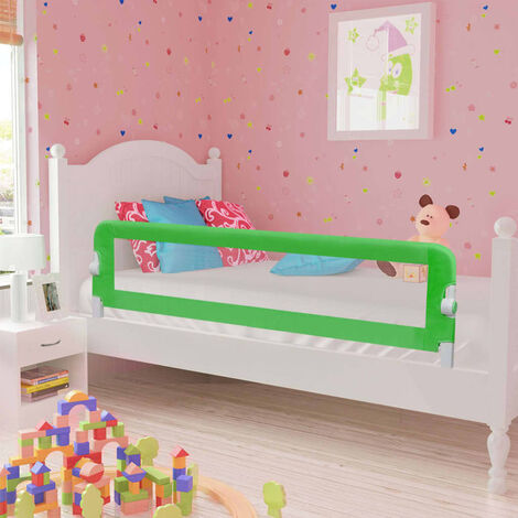 Toddler Safety Bed Rail Green 120x42 cm Polyester