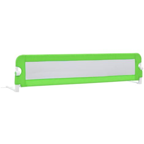Toddler Safety Bed Rail Green 180x42 cm Polyester