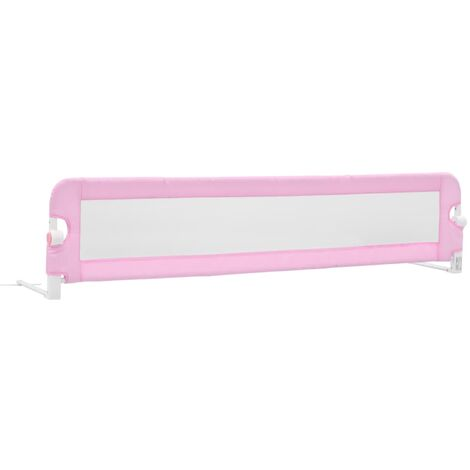 Toddler Safety Bed Rail Pink 180x42 cm Polyester