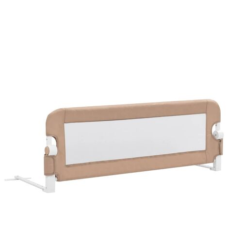 Toddler Safety Bed Rail Taupe 120x42 cm Polyester