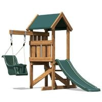 Toddlers Climbing Frame MicroFort - Baby Swing Outdoor Pressure Treated Childrens Garden Slide Wooden Play Tower