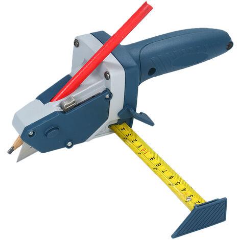 Todo-en-uno de la Placa de Yeso herramienta de corte con la cinta y Cuchillo para marcar y cortar paneles de yeso culebrilla aislamiento del azulejo de la alfombra de espuma