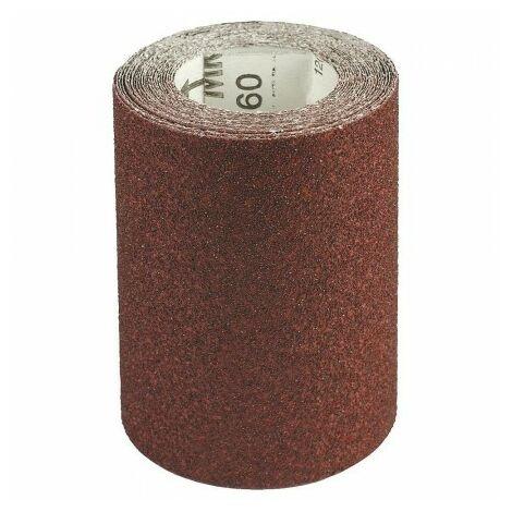 Toile abrasive corindon, rouleau 115 mm. x 5 m. grain 100