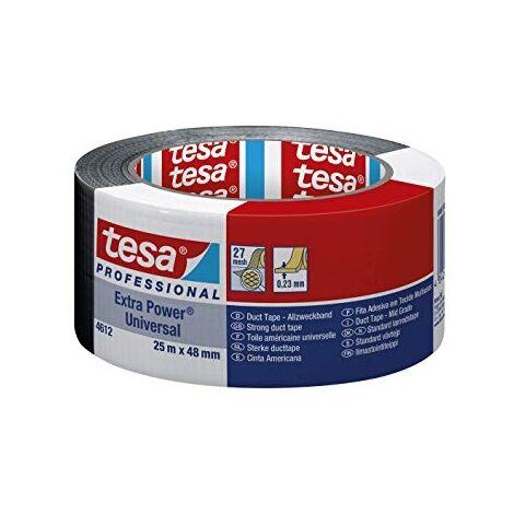 "main image of ""Toile Adhesive Extra Power 4612 25 m x 48 mm noir Tesa"""
