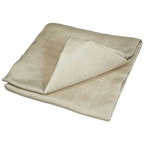 Toile anti chaleur 550°C 1 x 1 m - bâche ignifugée M0 - Couverture protection soudure