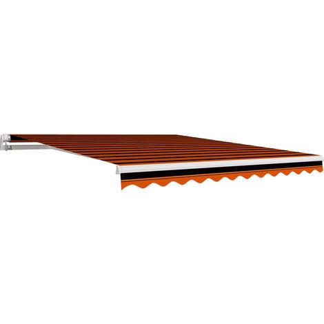 Toile d'auvent Orange et marron 300x250 cm