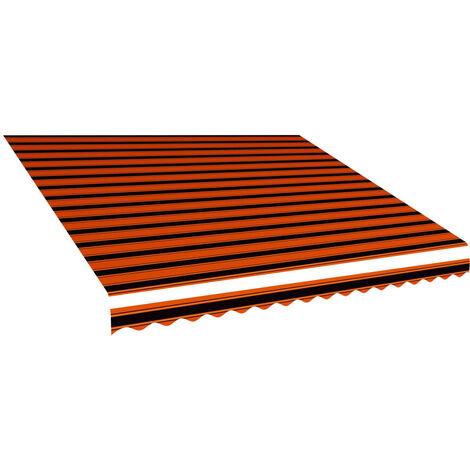 Toile d'auvent Orange et marron 450x300 cm