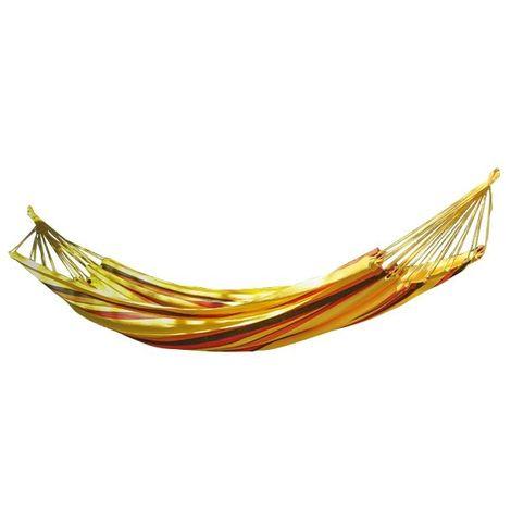 Toile de hamac (vendu sans le support en bois) Ruby en coton rayé jaune