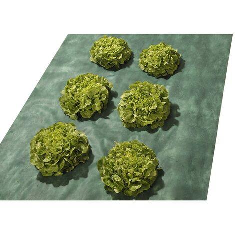 Toile de paillage 1x15 m -50g /m² - Bâche de paillage - Toile non tissée avec un traitement anti UV