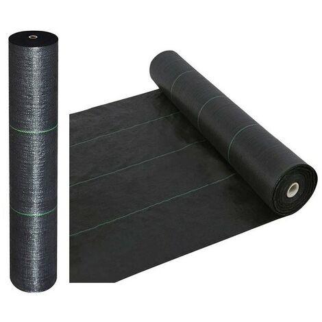 Toile de paillage noire Larg 1,60m - Long 10m - 100g/m2
