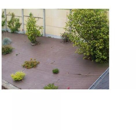 Toile de paillage tissée 90 g / m² 1.6m x 20m marron