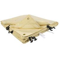 Toile de rechange beige pour auvent 3 x 4m Beige 400 cm