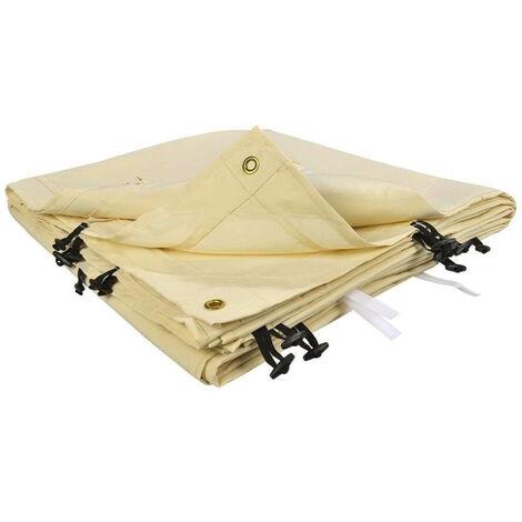 Toile de rechange beige pour auvent 3 x 4m beige