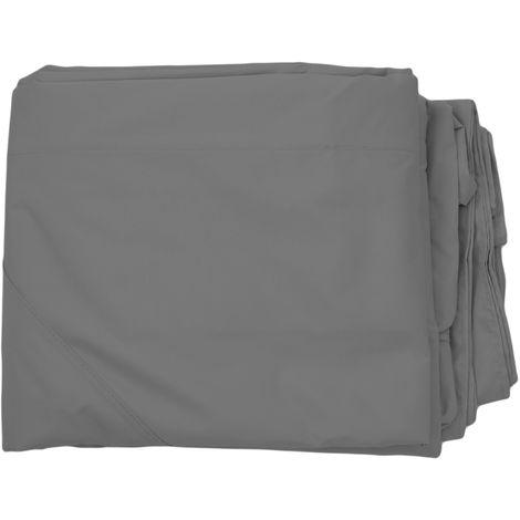 Toile de rechange pour pergola pavillon Mira 3,5x3,5m ~ gris