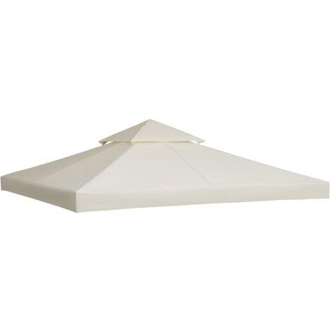 Toile de toit de rechange pour pavillon tonnelle tente 3x3m crème - Beige