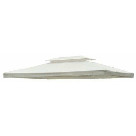 Toile de toit de rechange pour pavillon tonnelle tente 3x4m crème - Beige