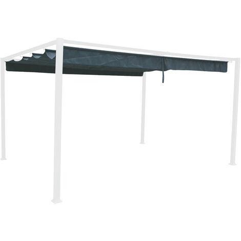 Toile de toit pour la tonnelle Palmeira 4 x 3 m Ardoise