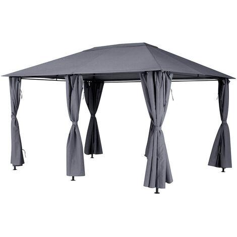 """main image of """"Toile de toit pour la tonnelle Santorini 3 x 4 m Ardoise"""""""