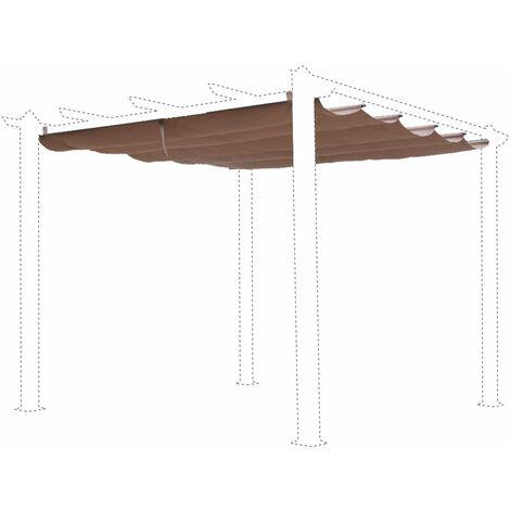 Toile de toit taupe pour tonnelle 3x3m Condate - toile de rechange pergola, toile de remplacement