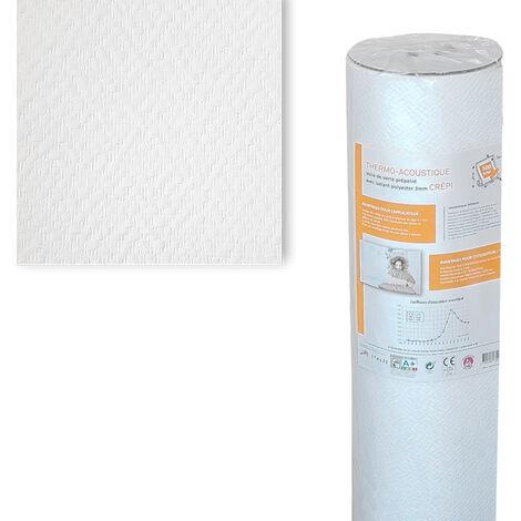 Toile de verre thermo-acoustique motif Crépi 500g/m² -10m²