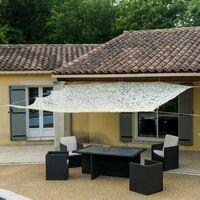 Toile d'ombrage ajourée beige 120 g/m2 2x3m