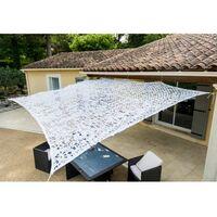 Toile d'ombrage ajourée blanche 120g/m2 2x3m