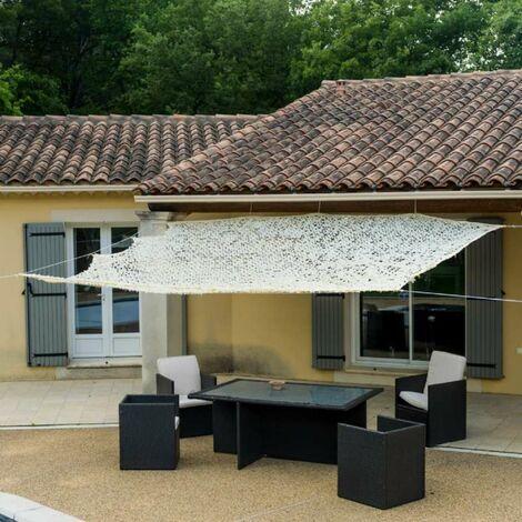 Toile d'ombrage ajourée de couleur beige 3 x 3 m