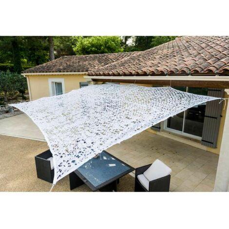 Toile d'ombrage ajourée de couleur blanche 3 x 3 m