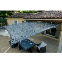 Toile d'ombrage ajourée grise 120 g/m2 dim : 2x3m