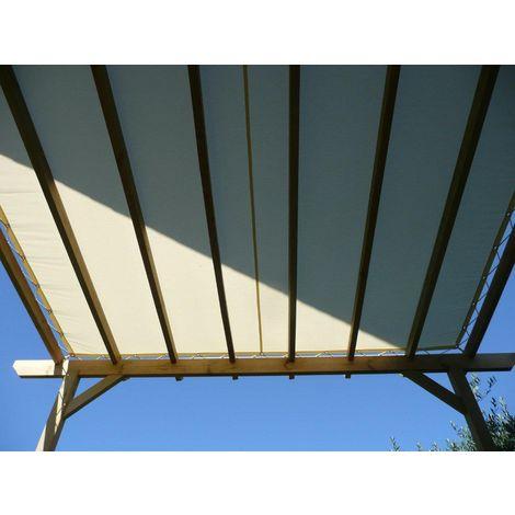 Toile d'ombrage imperméable de 3x3m à tendre sur structure pergola