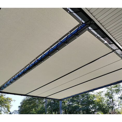 Toile d'ombrage imperméable de 4x3m à tendre sur structure pergola