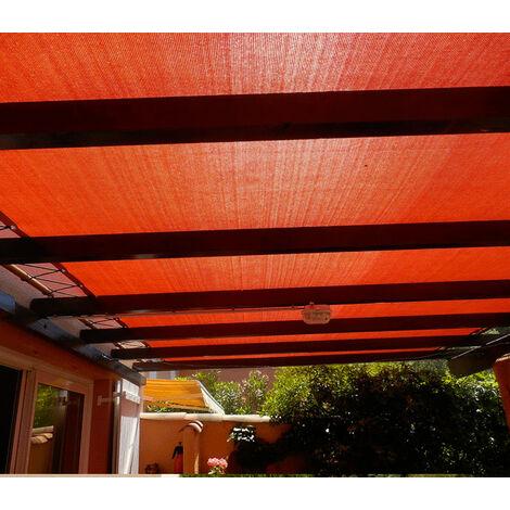 Toile d'ombrage perméable de 3x3m à tendre sur structure pergola
