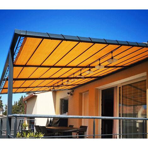 Toile d'ombrage perméable de 4x3m à tendre sur structure pergola