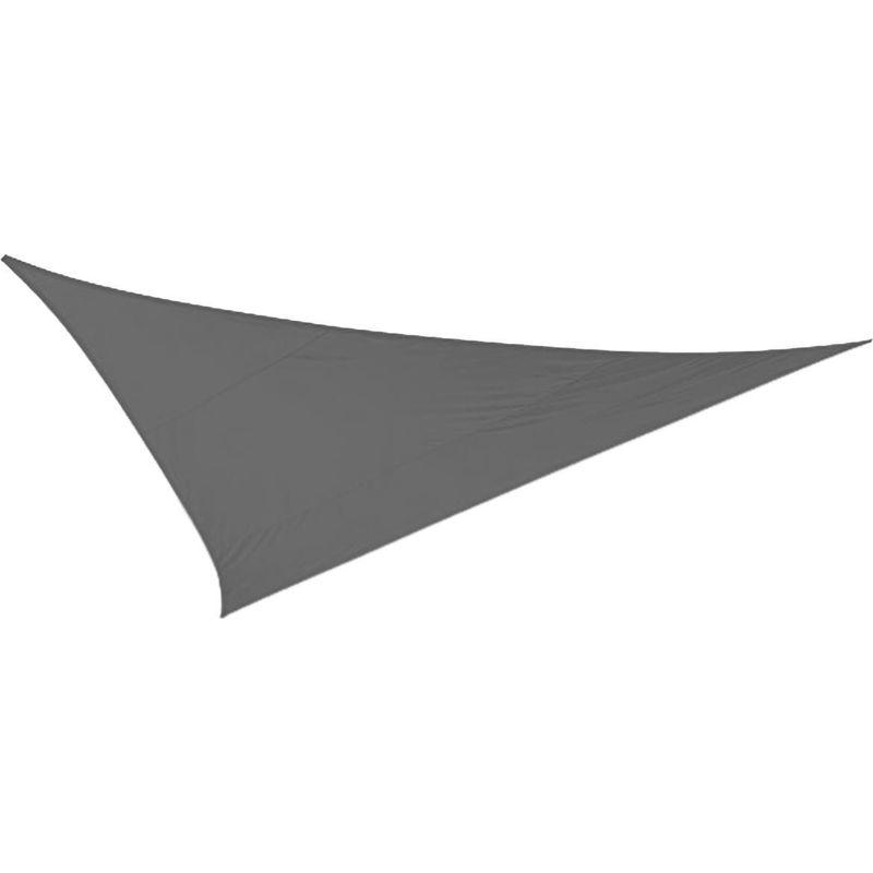 Toile d'ombrage triangulaire 5 mètres Gris - Gris