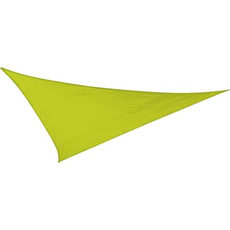 Toile d'ombrage triangulaire 5 mètres Vert anis